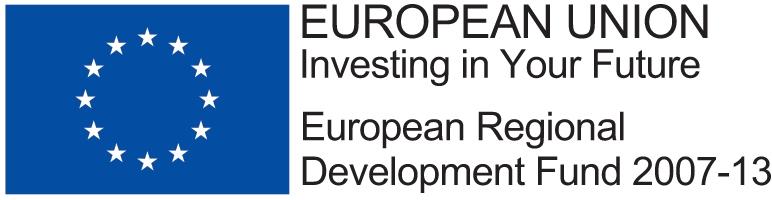 ERDF Logo Landscape Reflex Blue